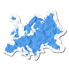 Crumbled map vector image