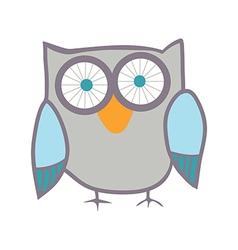 Cute owl bird vector image