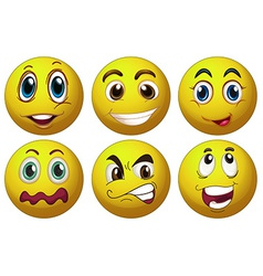 Expressions vector image vector image