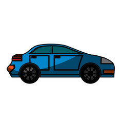 Familiar car vehicle vector