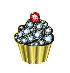 Gem Cupcake vector image vector image