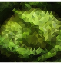 Green color Abstract triangle mosaic background vector image vector image