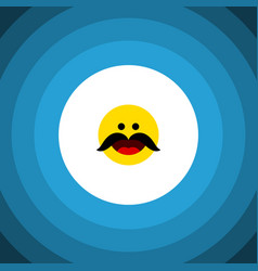 Isolated whiskers flat icon cheerful vector