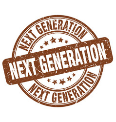 Next generation brown grunge stamp vector