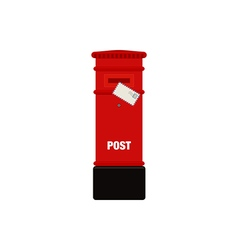 Red mail post box isolated vector