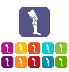 Retentive bandage icons set flat vector