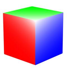 Rgb cube vector
