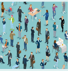 seamless tile of people in the office office vector image vector image