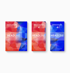 Set of brochure design template vector