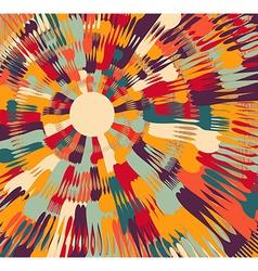 Silverware contemporary art background vector