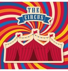 Striped tent icon circus and carnival design vector