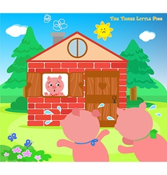 The three little pigs very scared vector