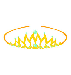 Tiara icon cartoon style vector