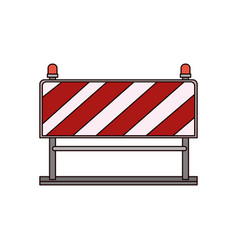 traffic barrier flat icon colorful silhouette vector image