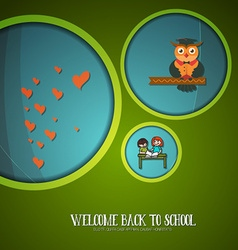 With backtoschool and owl vector