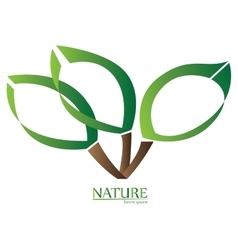 Isolated nature logo vector
