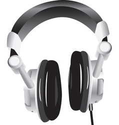 Modern headphones vector