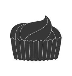 Cup cake dessert sweet pictogram vector