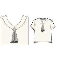 Funny surreal tie vector