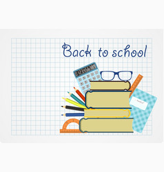 back to school background paper sheet with vector image