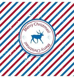 Christmas Santa post vector image