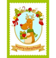 christmas deer stock small vector image
