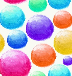 Colorful watercolor ball seamless pattern vector