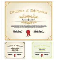 Certificate set vector