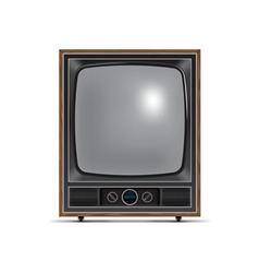 Square screen retro tv vector
