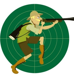 Safari hunter vector