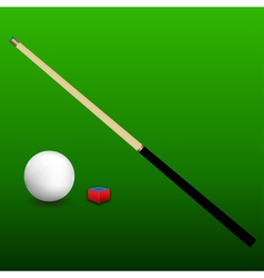 Billiard cue ball and chalk vector
