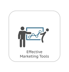 Effective marketing tools icon flat design vector