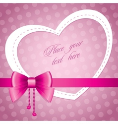 romantic frame vector image