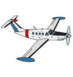 Small watch airplane vector image