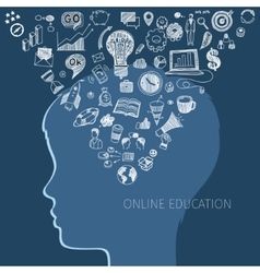 Concept of online education vector