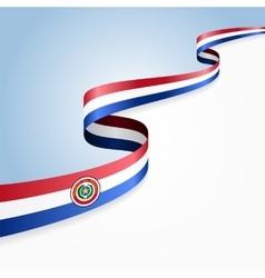 Paraguayan flag background vector image