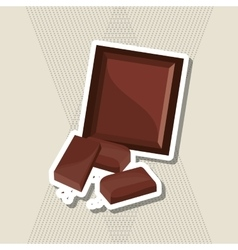 Flat about chocolate design  sweet vector image
