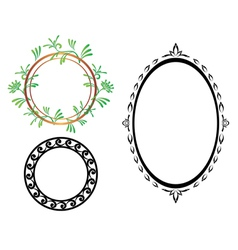 set - oval and round frames vector image