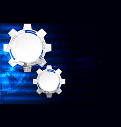 Abstract technology background cogwheels theme vector