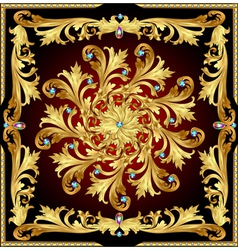 background with a rosette of gold vector image vector image