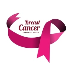 Breast cancer awareness symbol vector image