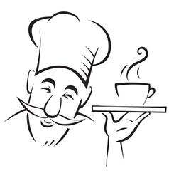 Chef cook contour vector image