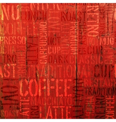 coffee experience words on red vector image vector image