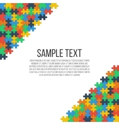 Colorful puzzle frame vector
