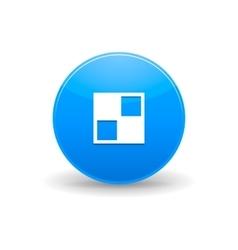 Del icio us icon simple style vector image vector image