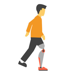 disabled man with artificial leg vector image vector image