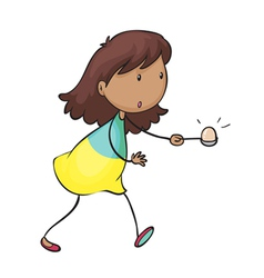 Egg and spoon race vector image vector image