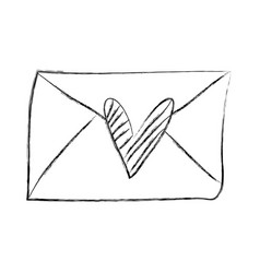 envelope with heart love romantic icon vector image vector image