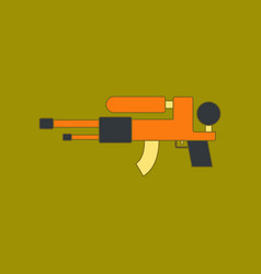 Flat icon on background kids toy water gun vector