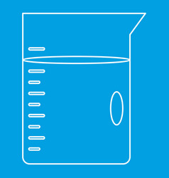 Glass jar icon outline style vector